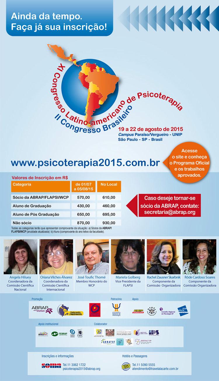 XI Congresso Latino americano de Psicoterapia